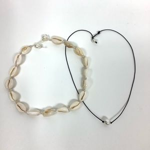 Jewelry - 3/$18 Shell Choker Necklace & Pearl Necklace
